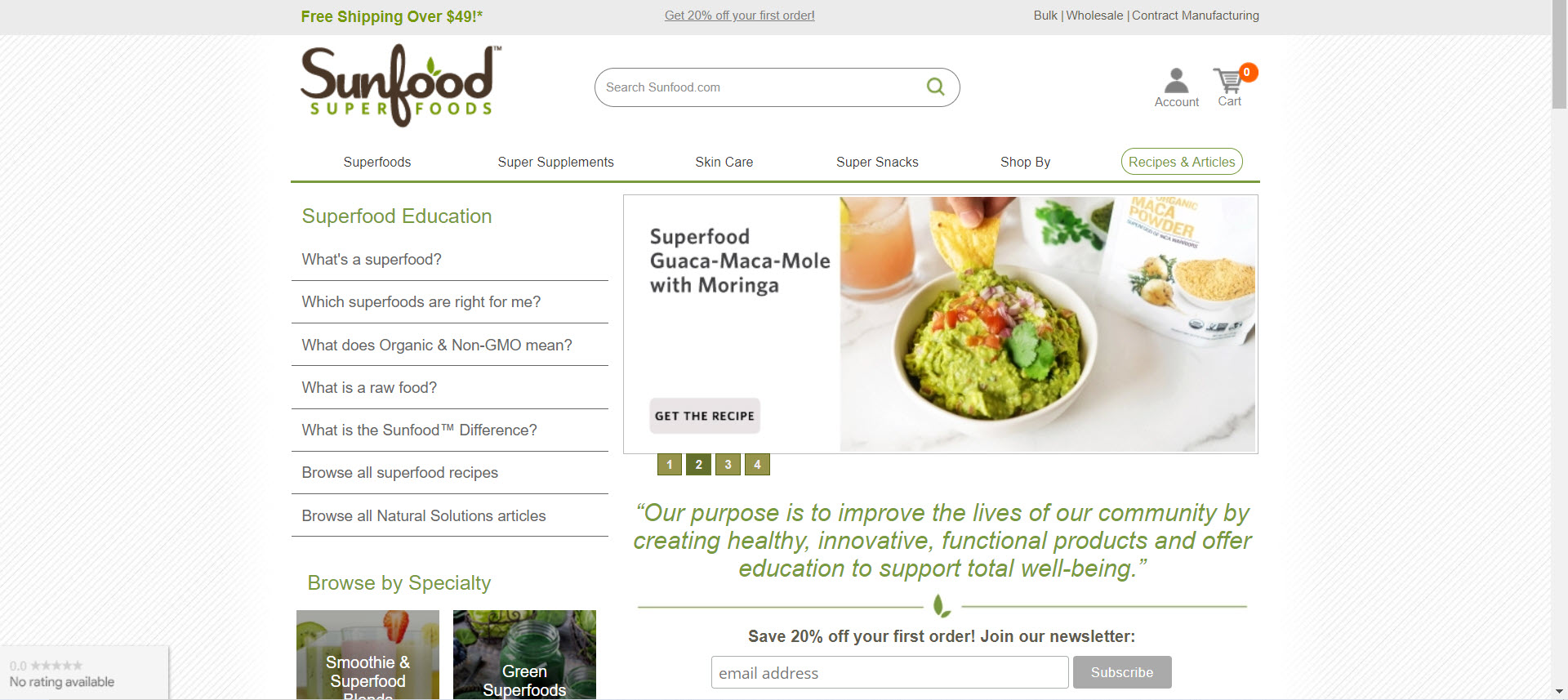 Health Food Affiliate Programs - Sunfood