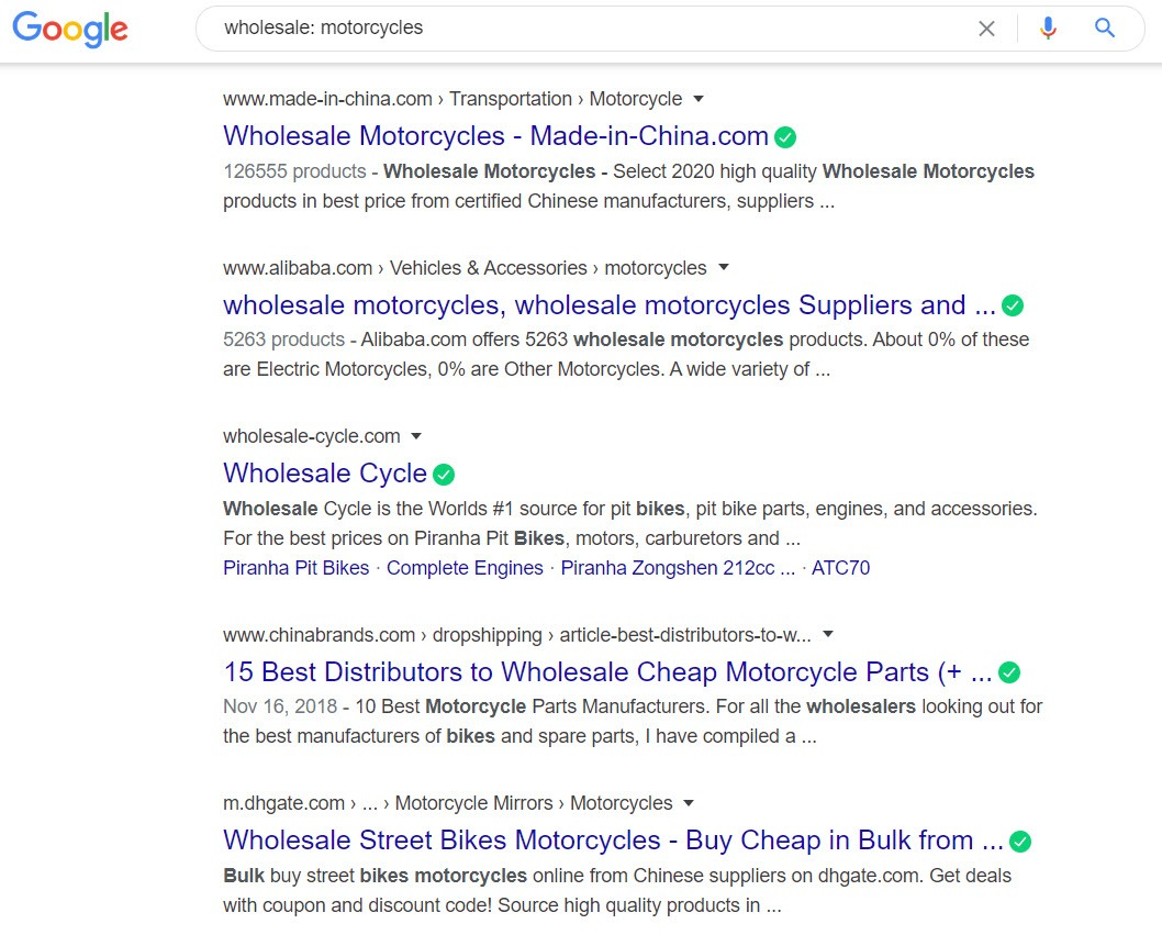 How to Sell Motorbikes Online - Motorbike wholesale
