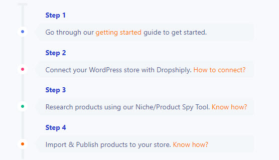 dropshiply review - 4 step process