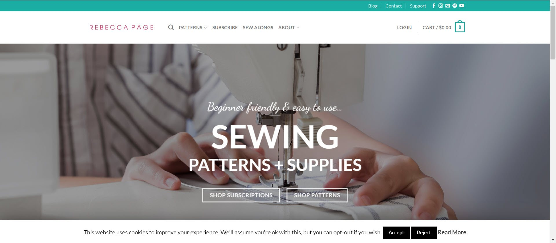 sewing affiliate programs - Rebecca Page