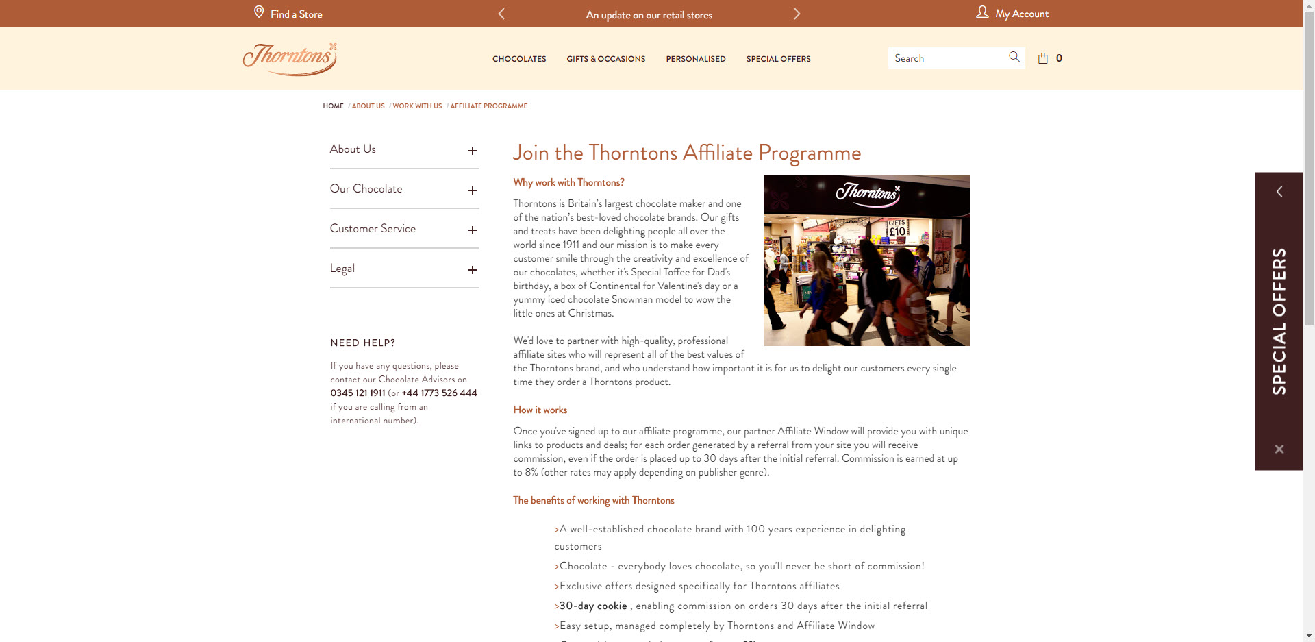 Christmas affiliate programs - Thorntons Affiliate
