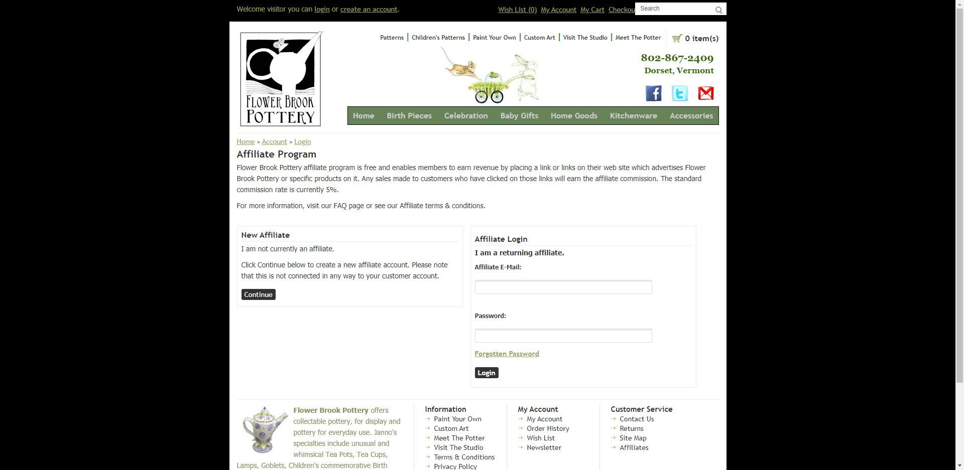 Pottery Affiliate Programs - Flower Brook Pottery affiliate