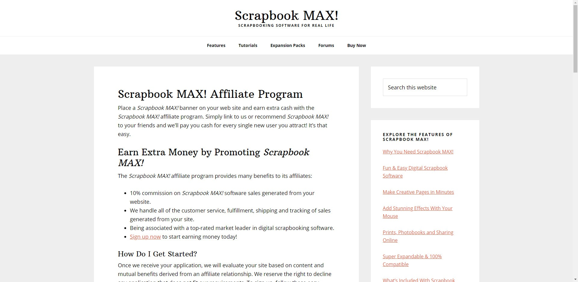 Scrapbooking Affiliate Programs - Scrapbook MAX affiliate