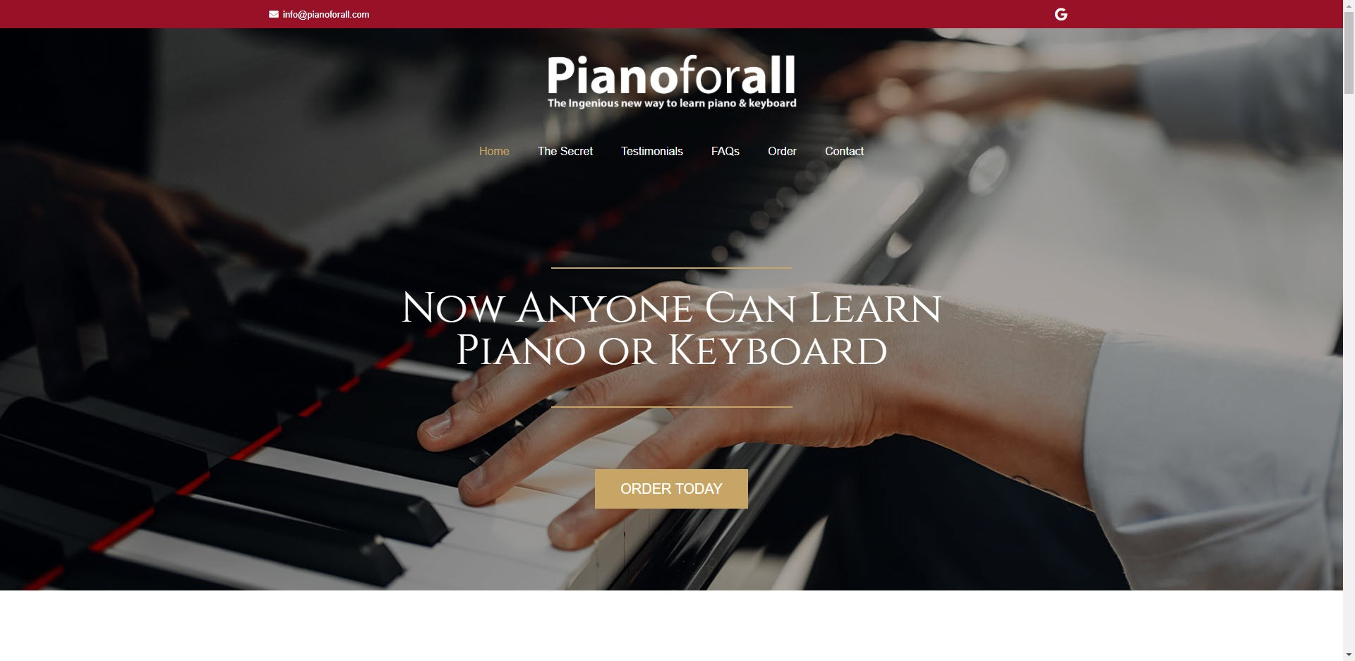 music affiliate programs - Piano for All