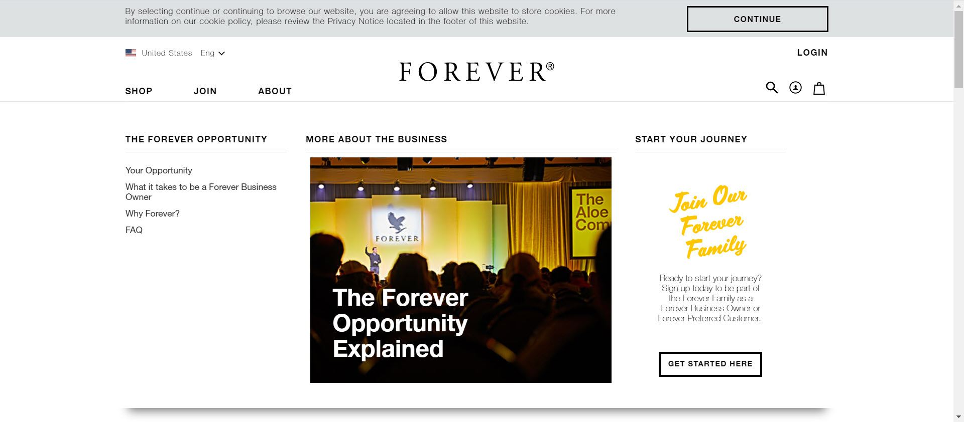 Is Forever Living MLM - opportunity page