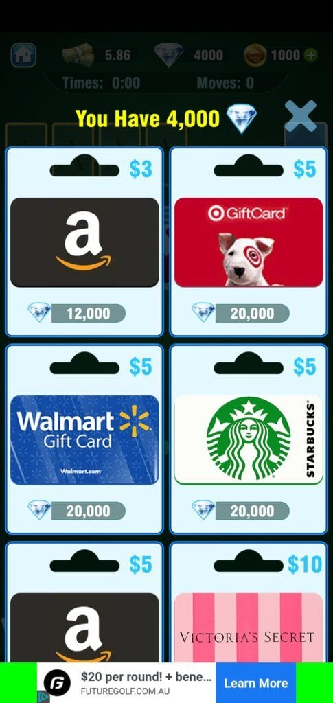 Solitaire Real - gift cards