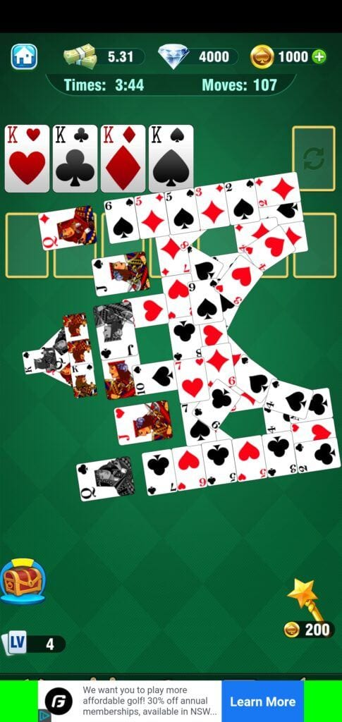 Solitaire Real - level 4