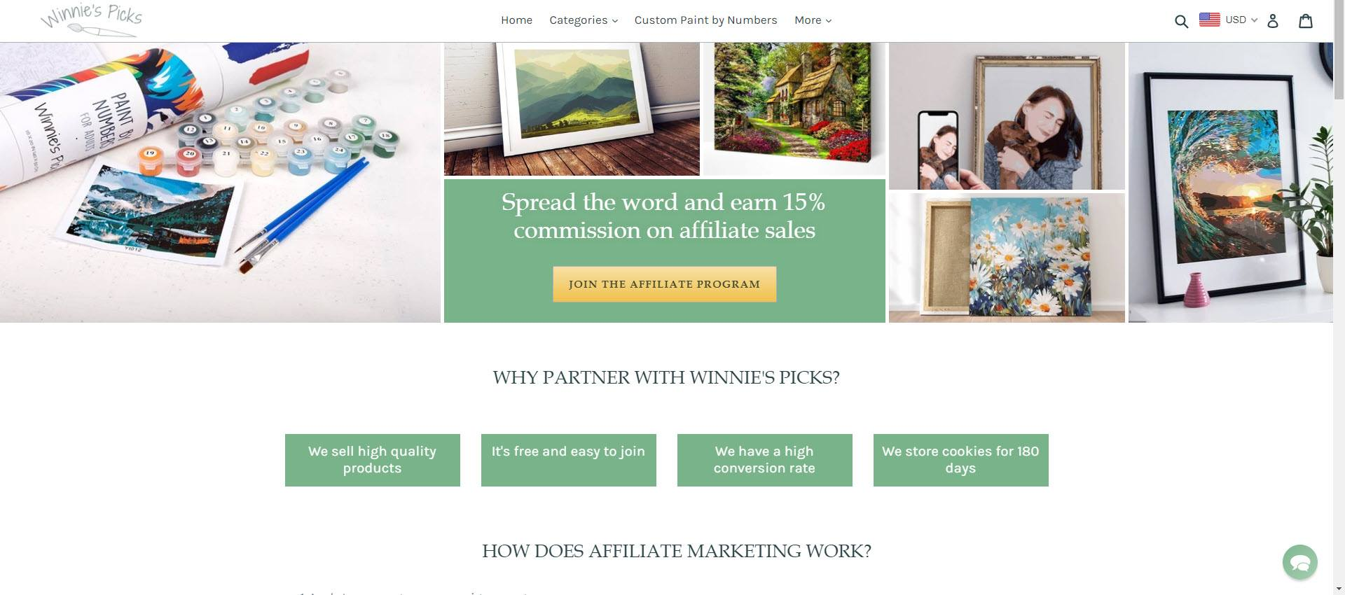 affiliate programs for painters - Winnies picks affiliate