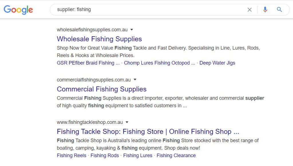 monetize fishing blog - Supplier