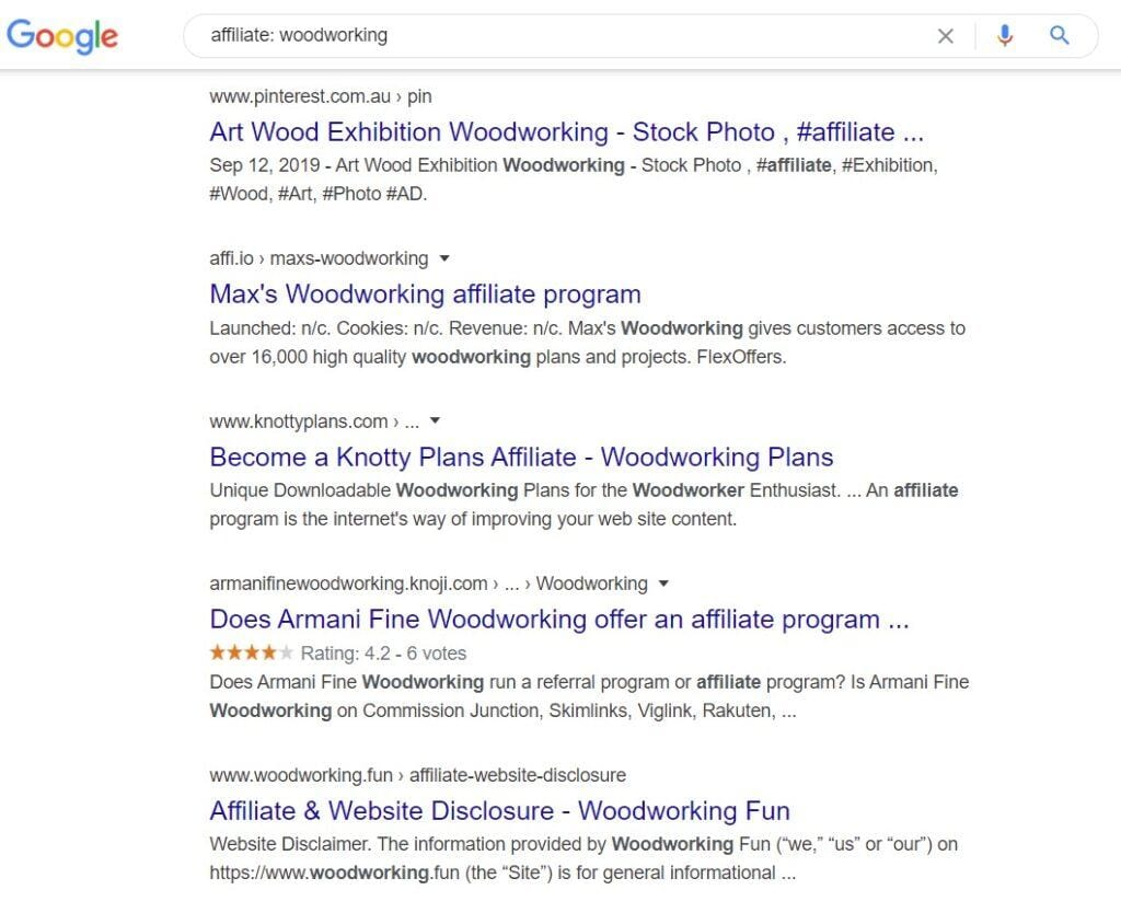 woodworking affiliate programs - affiliate