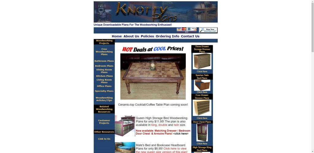 woodworking affiliate programs - knotty plans