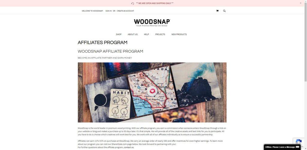 woodworking affiliate programs - woodsnap affiliate