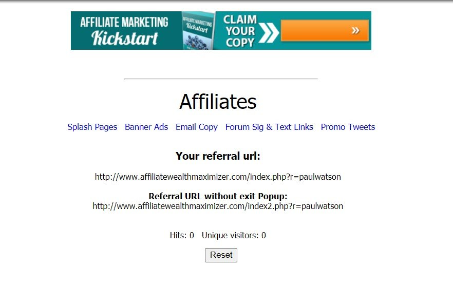 Affiliate Wealth Maximizer - section 3