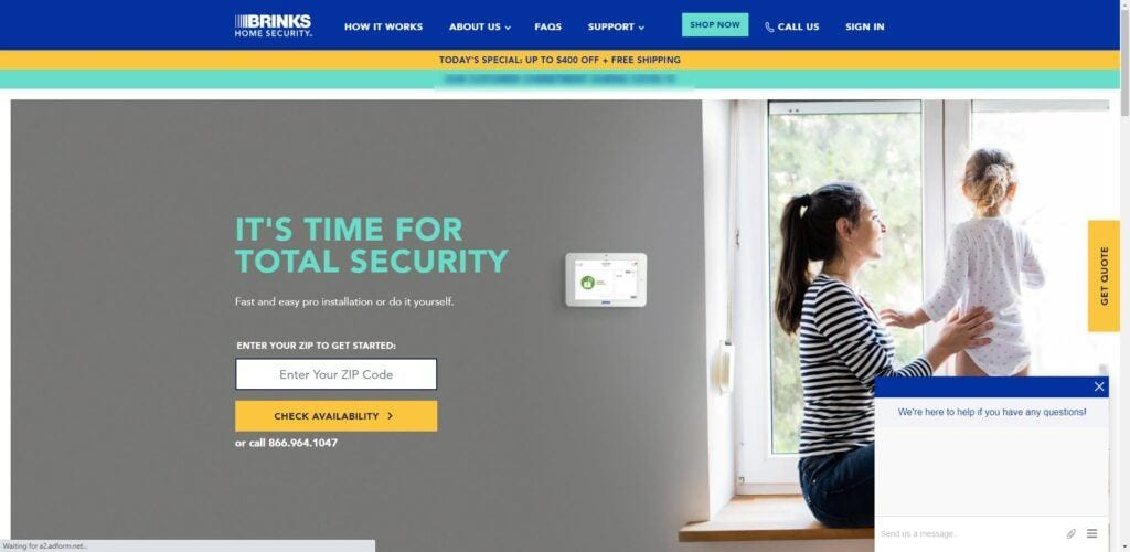 home security affiliate programs - Brinks
