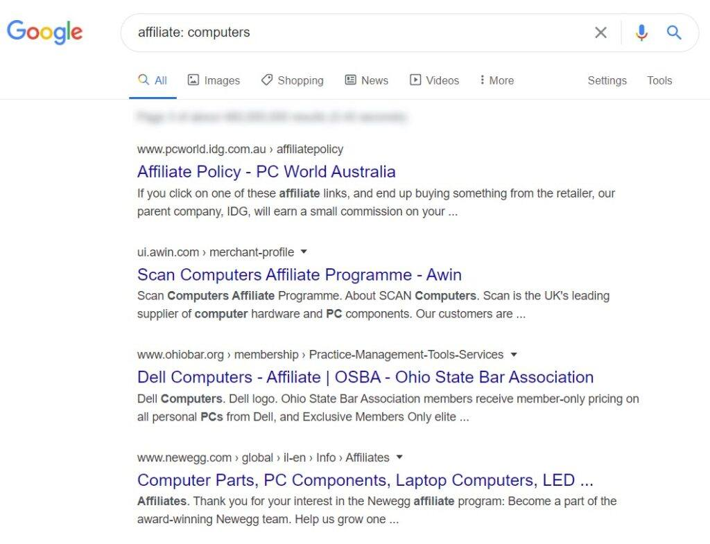 sell computers online - affiliates