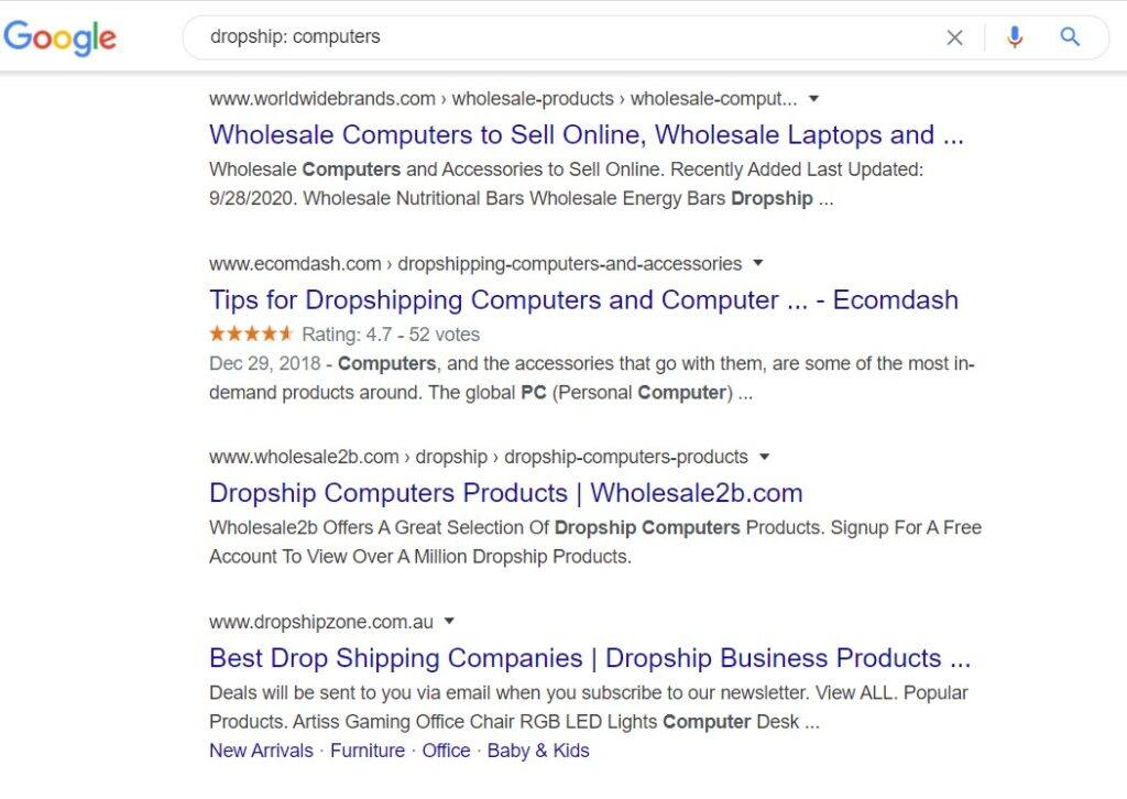 sell computers online - dropship