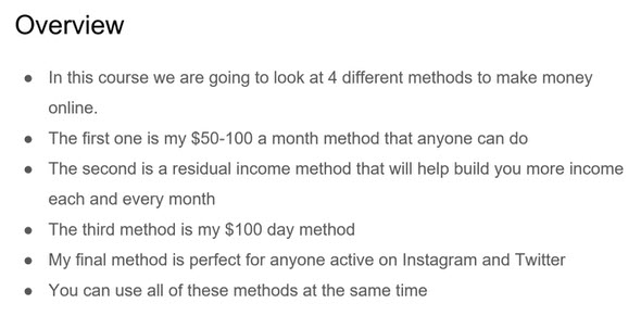 simple income methods - overview