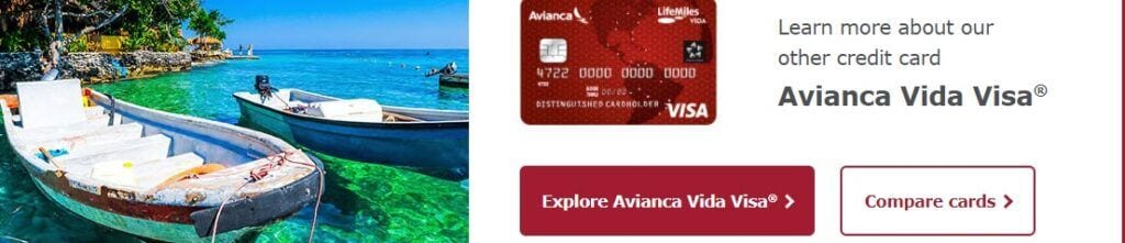 Credit Card affiliate programs - Avianca stripe