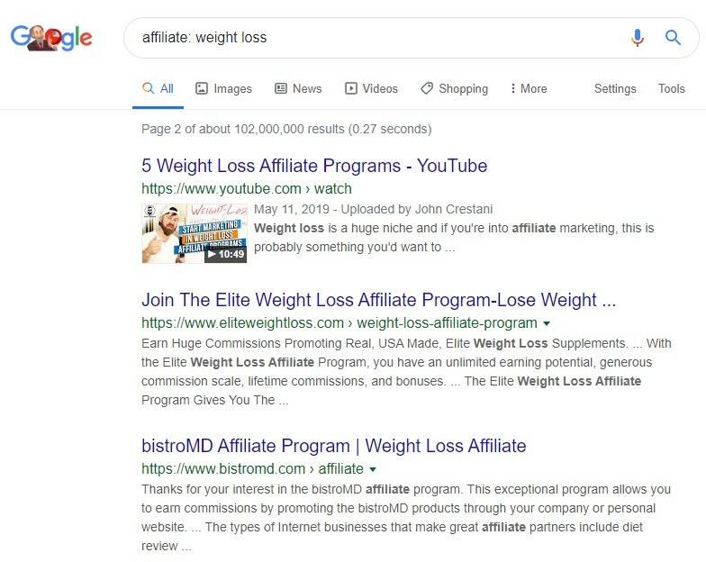 Weight loss affiliate programs - affiliates