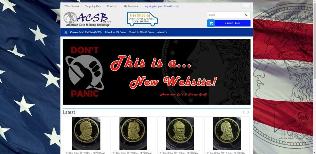 coin collection affiliate programs - ACSB