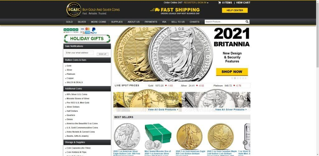 coin collection affiliate programs - BGASC