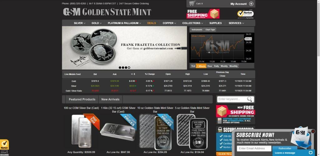 coin collection affiliate programs - Golden State