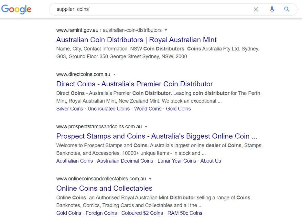 sell coins online - supplier