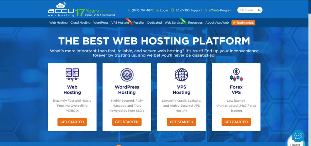Top Website Hosting Services - accuweb