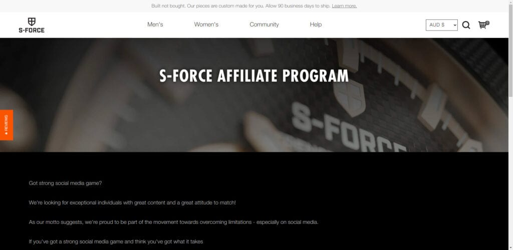 Watch affiliate programs - s-force affiliate