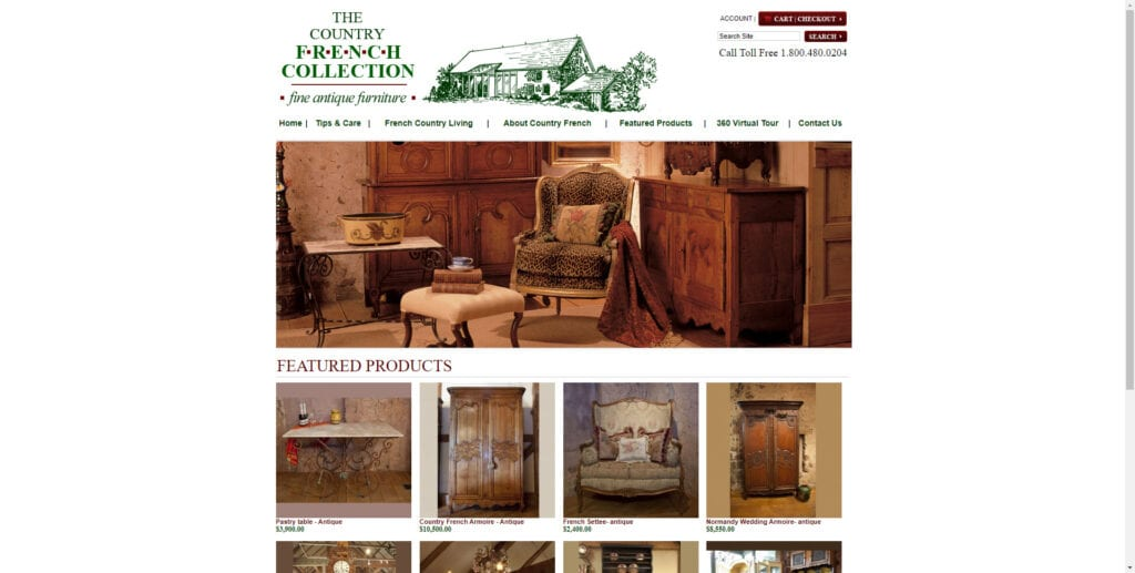 antique affiliate programs - country french collection