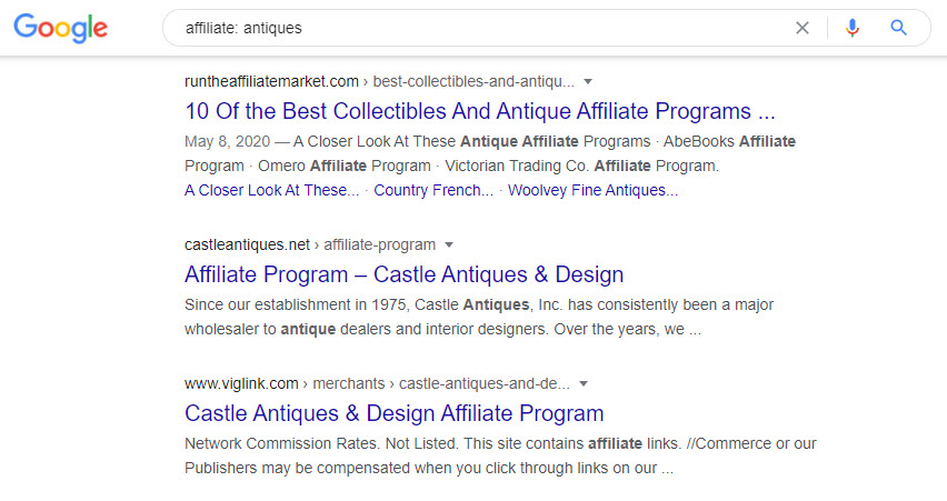 sell antiques online - antiques affiliate