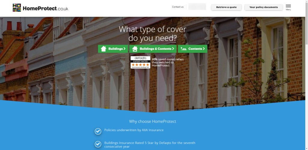 Home insurance affiliate - homeprotect