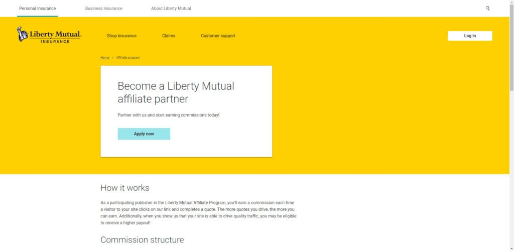 Insurance affiliate programs - Liberty mutual affiliate