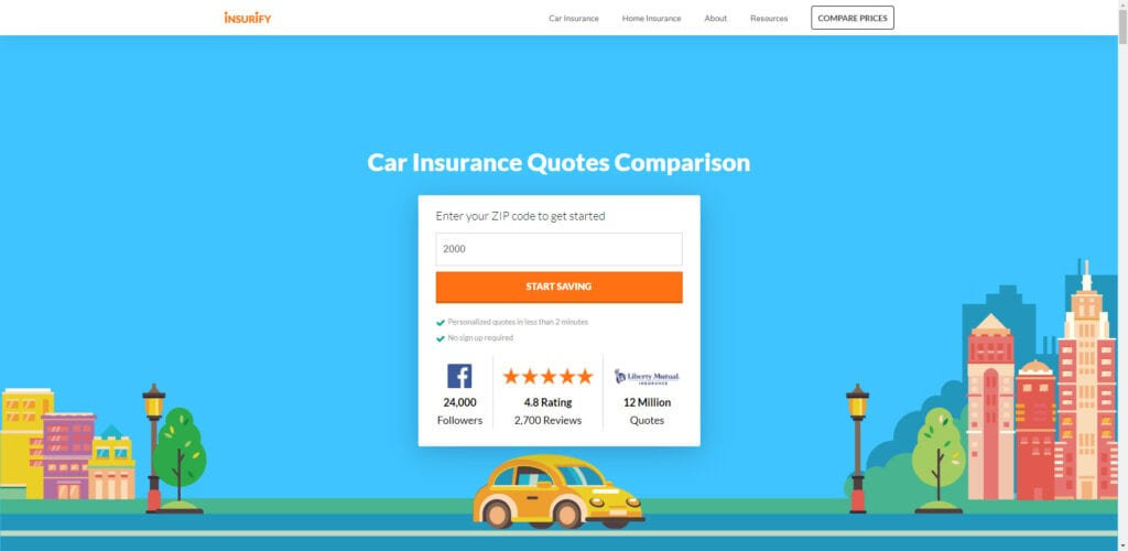 auto insurance affiliate programs - insurify