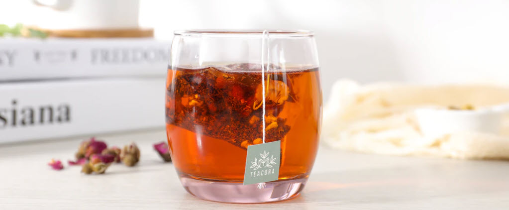 how to sell tea online - tea in glass