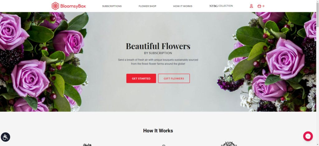 flowers affiliate programs - BloomsyBox Home