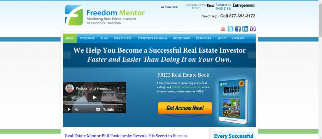 freedom mentor review - home