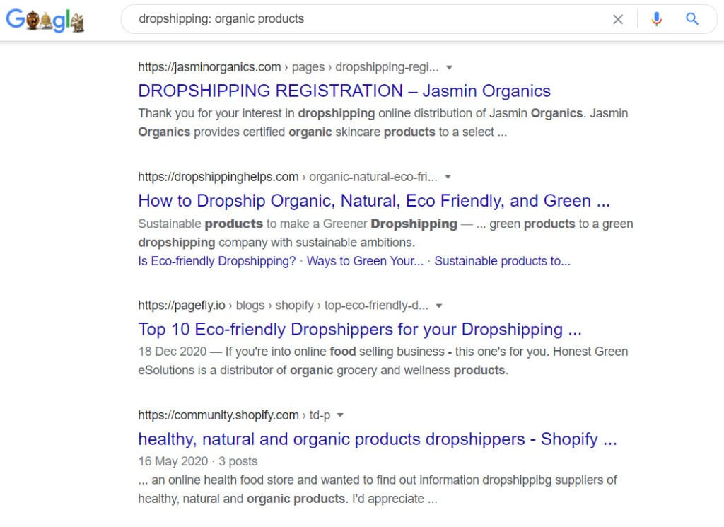 How to sell organic products online - dropshipping programs