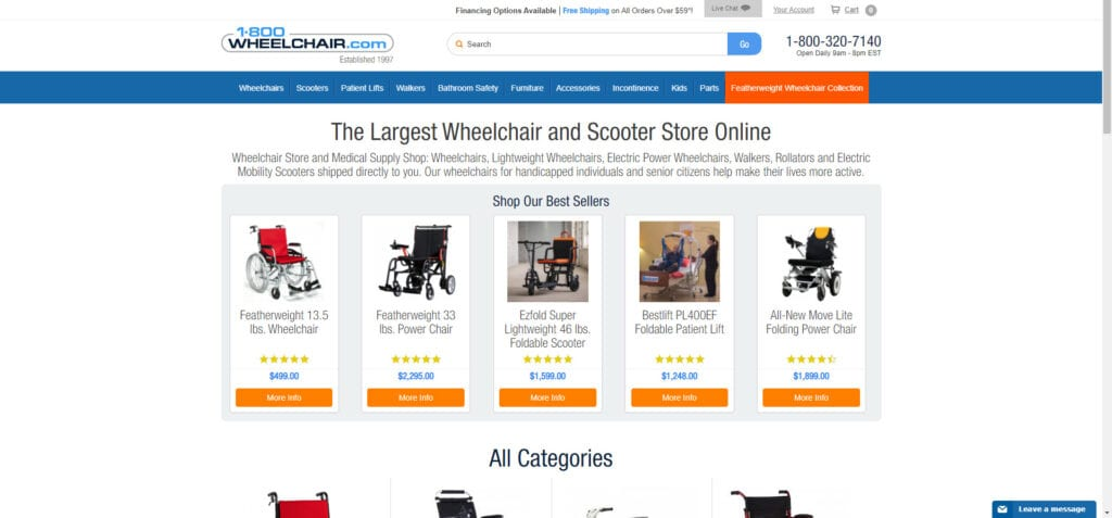 medical supplies affiliate programs - 1800wheelchairs home