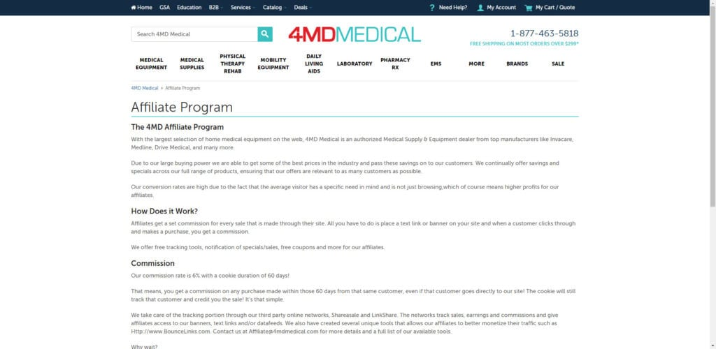 medical supplies affiliate programs - 4MD Affiliate