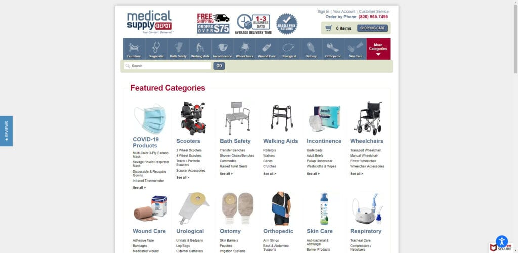 medical supplies affiliate programs - Medical Supply Depot Home