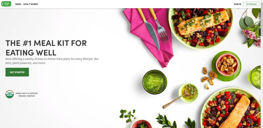 organic products affiliate - Green chef