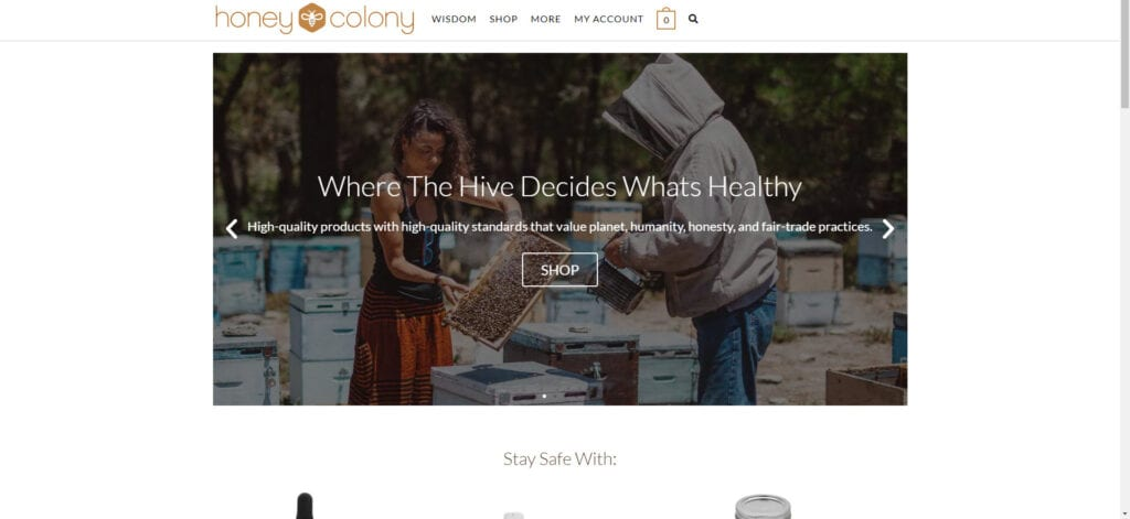 organic products affiliate - Honey Colony
