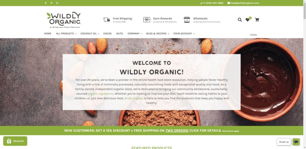 organic products affiliate - Wildly Organic