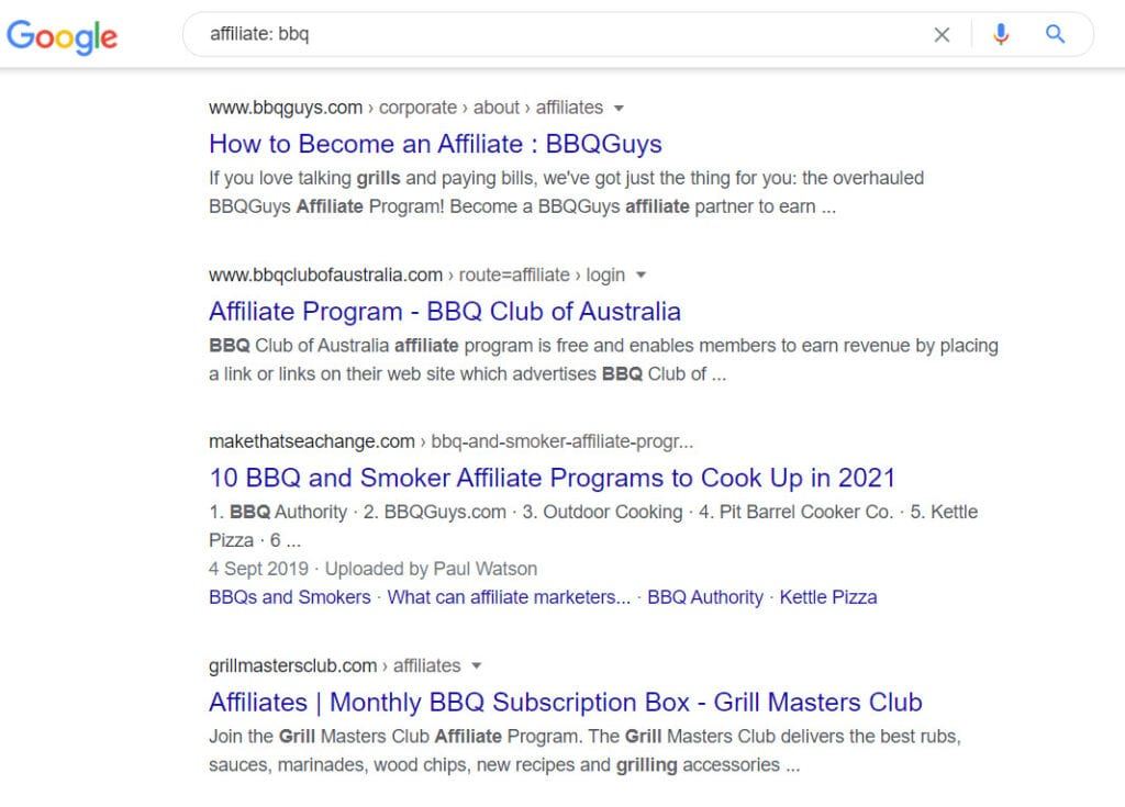 Monetize a Bbq Website - Affiliates