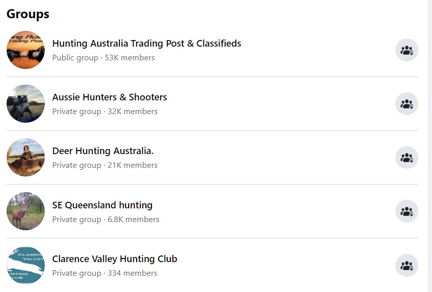 Sell hunting gear online - FB groups