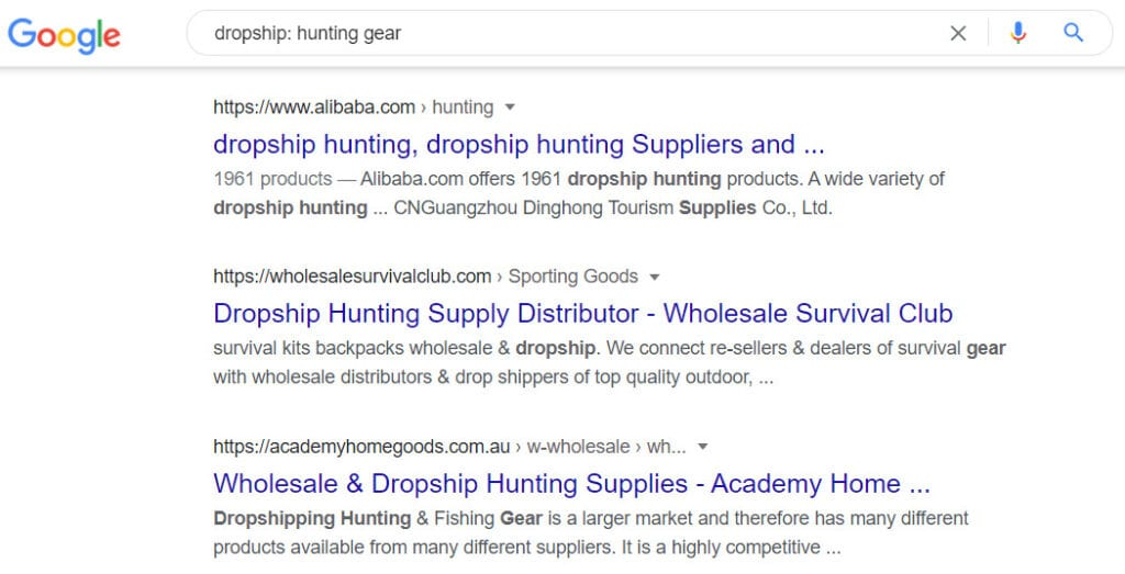 Sell hunting gear online - dropship