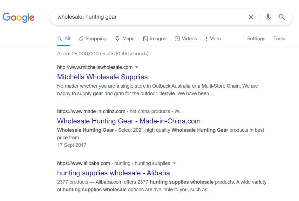 Sell hunting gear online - wholesale