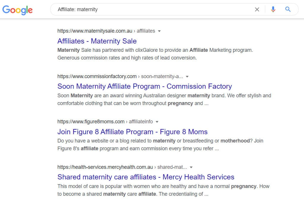 Sell maternity products - maternity affiliate