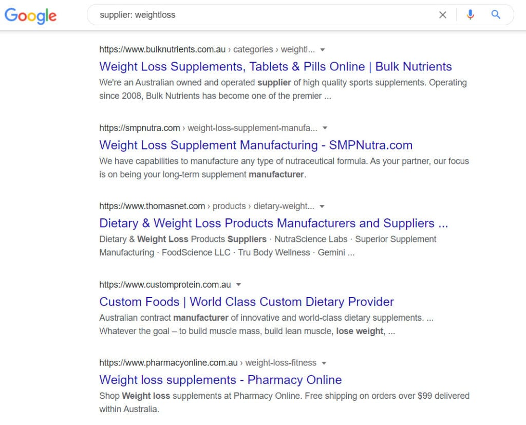 Sell weight loss online - supplier